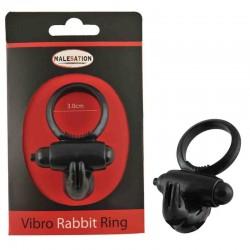MALESATION Vibro-Rabbit-Ring noir