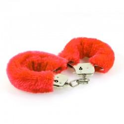 Menottes fourrure Rouge