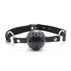 WOBO Baillon Boule perforée noir