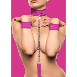 OUCH! Velcro Collar With Seperate Cuffs rose