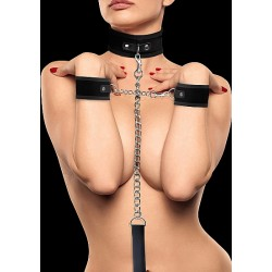 OUCH! Velcro Collar With Seperate Cuffs noir