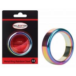 MALESATION Metal Ring Rainbow Steel 44