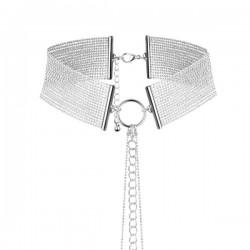 BIJOUX INDISCRETS Magnifique collier argenté en mailles métalliques