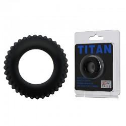 Titan-blue cockring