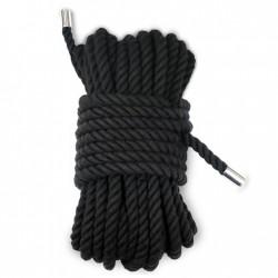 BE HAPPY Corde Luxe coton doublé noir 10m