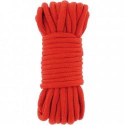 BE HAPPY Corde Classique coton rouge 10m