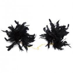BE HAPPY Menottes plumes noires