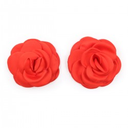 BE HAPPY Caches-seins fleurs rouges