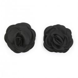 BE HAPPY Caches-seins fleurs noirs
