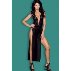 FANCY Robe fendue longue transparente