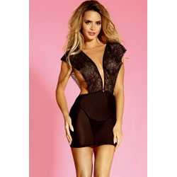 FANCY Robe courte transparente dentelle