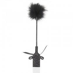 BE HAPPY Paddle plume laçage noir
