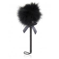 BE HAPPY Plumeau noir ruban