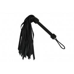 EASY BONDAGE Fouet cuir noir 40 cm