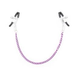 BE HAPPY Pinces tétons chaîne violette