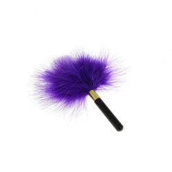 BE HAPPY Plumeau violet avec manche brillant
