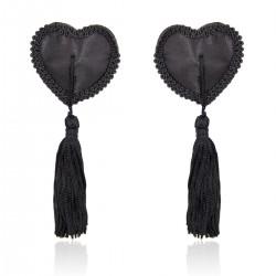 WOBO Caches seins cœur noir dentelle