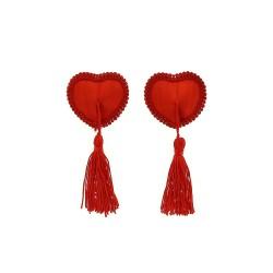 BE HAPPY Caches seins cœur rouge dentelle