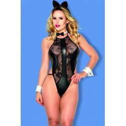 FANCY Costume body noir Chat